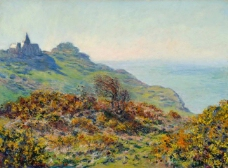 The Church at Varengeville and the Gorge of Les Moutiers 1882风景建筑田园植物水景田园印象画派写实主义油画装饰画