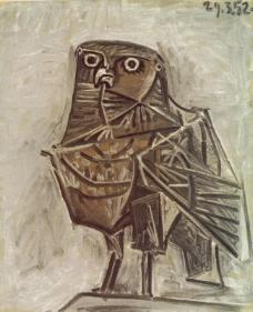 1951 Le hibou de la mort西班牙画家巴勃罗毕加索抽象油画人物人体油画装饰画