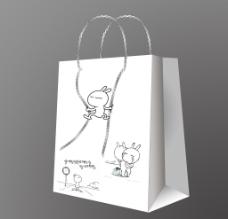 兔斯基纸袋图片