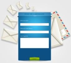邮件发送界面PSD图片