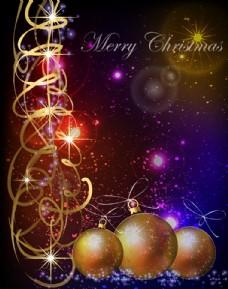 动感光线圣诞节背景